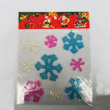 wholesale Christmas gift snowman jelly gel sticker window sticker glass sticker