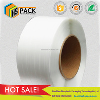 High tension polyester composite cord strap for heavy duty band packing