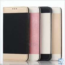 New high quality popular gold sand flip leather wallet card stand cover case for samsung galaxy s6 edge plus