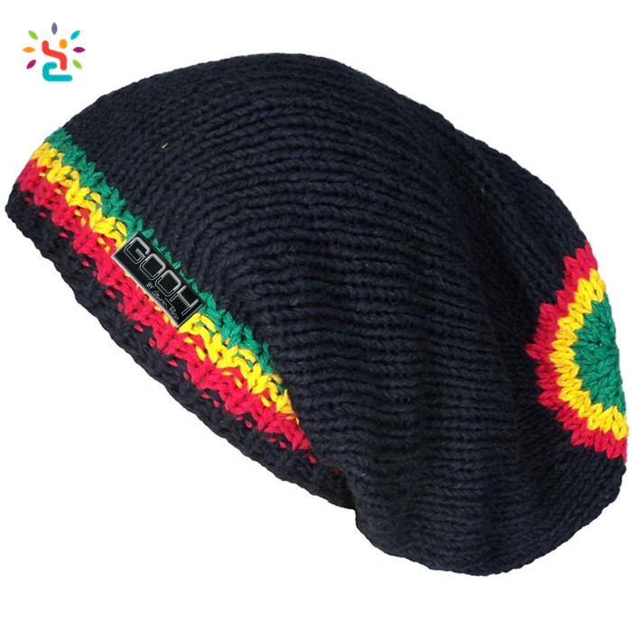 Free Rasta Hat Crochet Pattern Handmade Felt Hats Knitted Beanie Cap One Size Striped Beanie Custom Buy Free Rasta Hat Crochet PatternHandmade Felt Magnificent Rasta Hat Crochet Pattern
