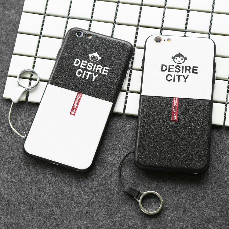 citycase black and white simple series tpu pc mobile phone case for iPhone6
