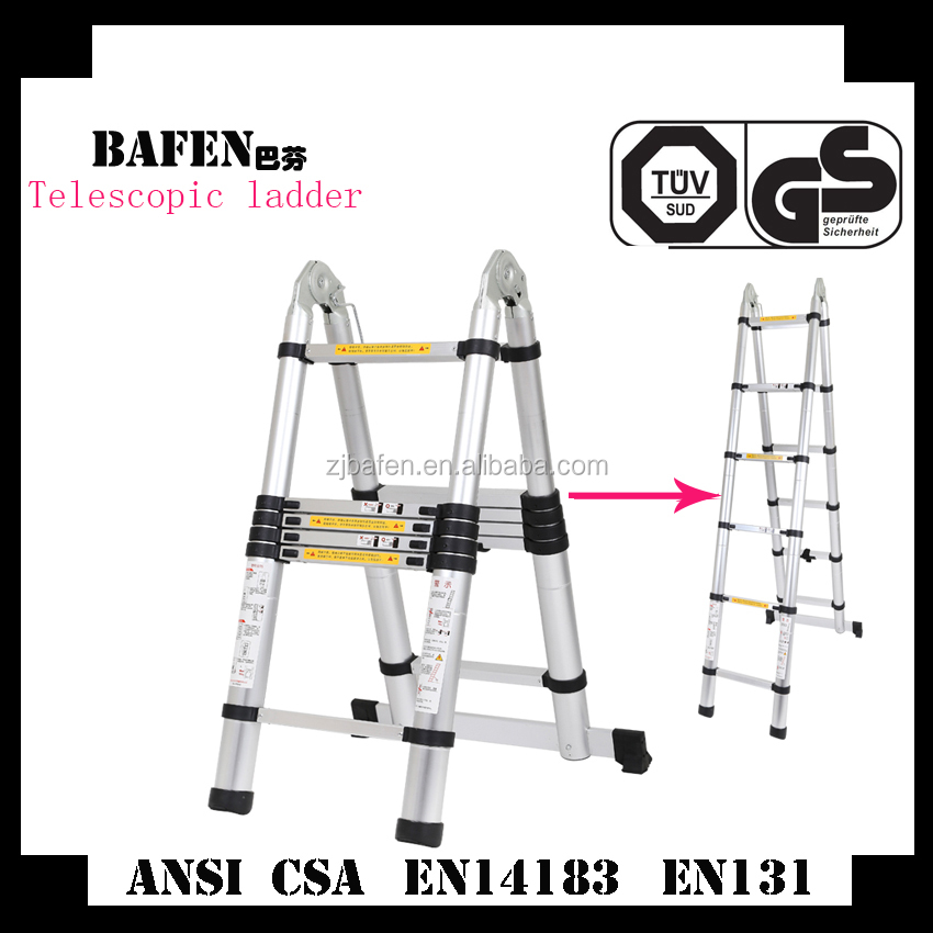 Hot selling Telescopic Ladder 12.5FT Heavy Duty Commercial Grade-Extendiable Work Light Weight