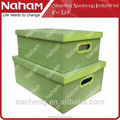 NAHAM high quality Jute Cloth toy storage box with lid
