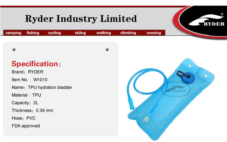Wholesale Outdoor Millitary TPU Drinking Water Hydration Backpack with 2L Hydration Water Bladder Bag