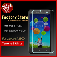 Asahi glass 9H hard 0.33mm thin 2.5D round edge screen guard tempered glass screen protector For Lenovo A3800