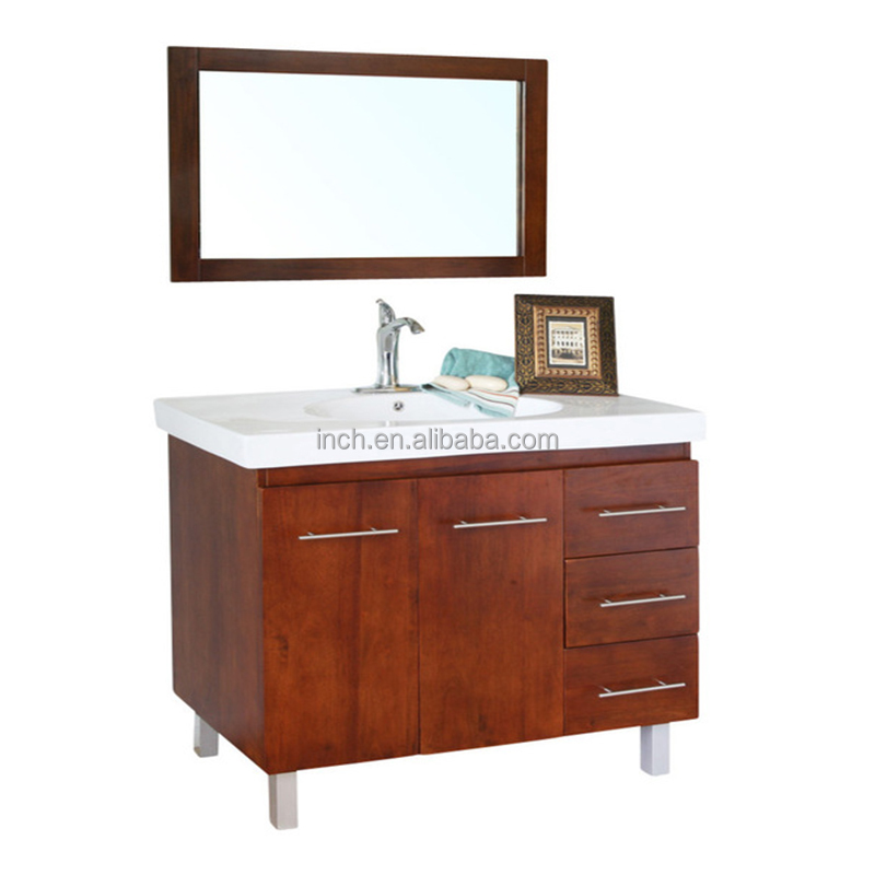 "60"" Wide <strong>oak</strong> solid wood Bathroom Vanity & Glass Bathroom Cabinet"