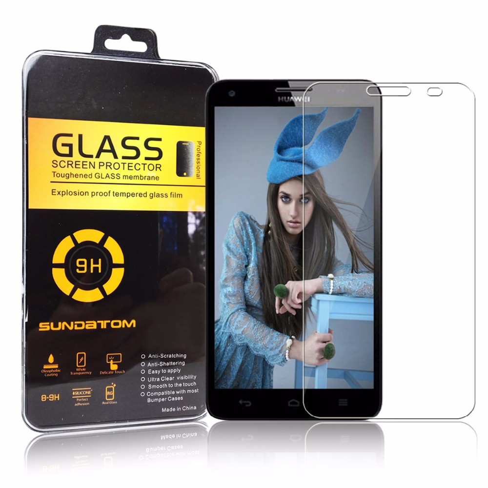Wholesale 9H hardness 0.26mm tempered glass screen protector for Huawei 3X G750 TG3x