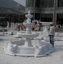 3 tiers white marble large garden water fountain outdoor