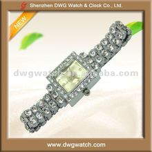 Bling Bling Square Watches with Vogue Bracelet Style