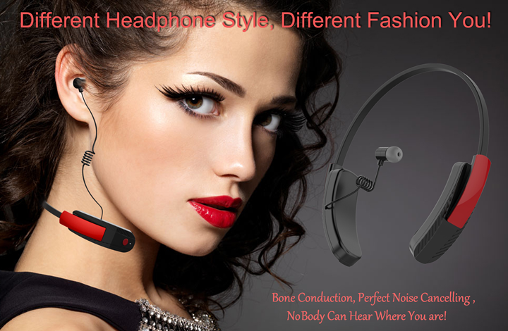 Latest technology voice sound bone conduction bluetooth hearing aid