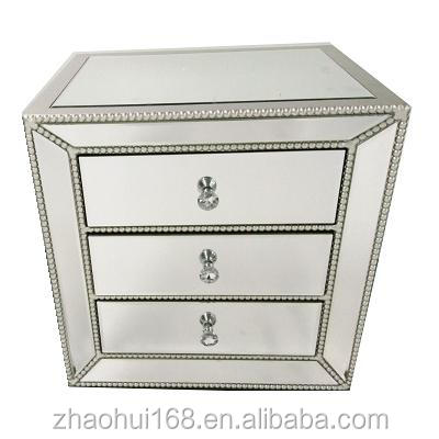 mirrored bedside table/mirrored end table/mirrored side table