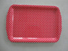 Rectangle Restaurant Serving Tray/Plastic Flat Tray With Handle