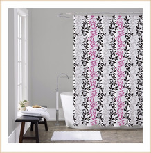 Fashionable printing bathroom european shower curtain
