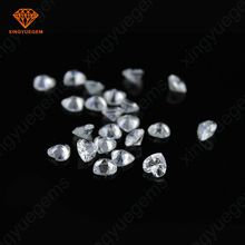 Artificial CZ Stone Heart White Synthetic Cubic Zircon
