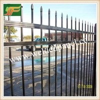 Alibaba express Black Steel Privacy Tubular panels and gates / Cheap security Steel Tubular Garden Fencing