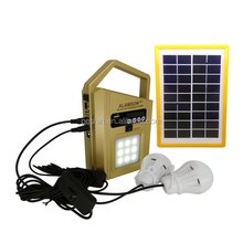 ALAMSON SP-211 OEM led solar light camping with solar panel with led light fm radio usb speaker
