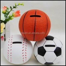 popular custom sports ball money box;make your cute coin bank for kids;custom high quality cheap ball bank factory