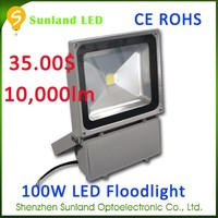 Aluminium alloy body steel glass cover CE ROHS 100 watt rgbw flood light