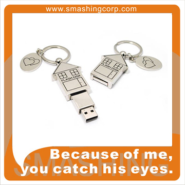 Perfect Gifts For Real Estate Company With OEM Logo House Shape USB Flash Drive
