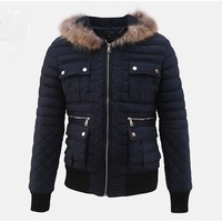 100 Nylon Fabric Quilted Bomber Jacket