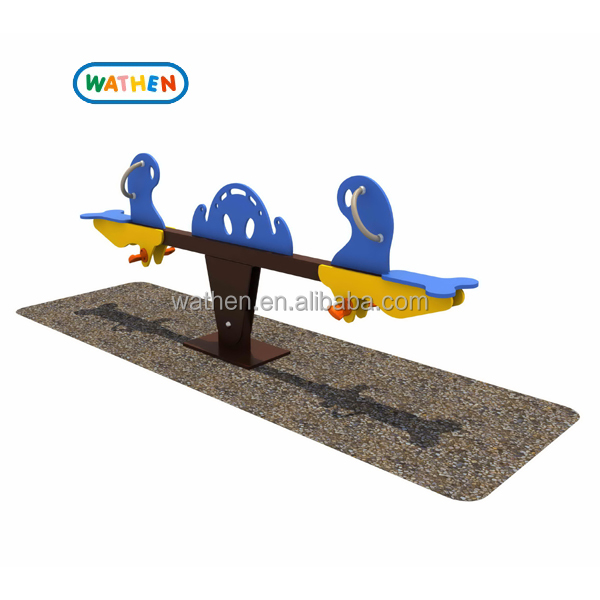 2015 attractive design seesaw outdoor playground for kids