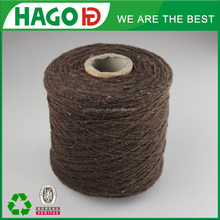 OE polyester cotton blended recycled thick knitting blanket yarns for blankets