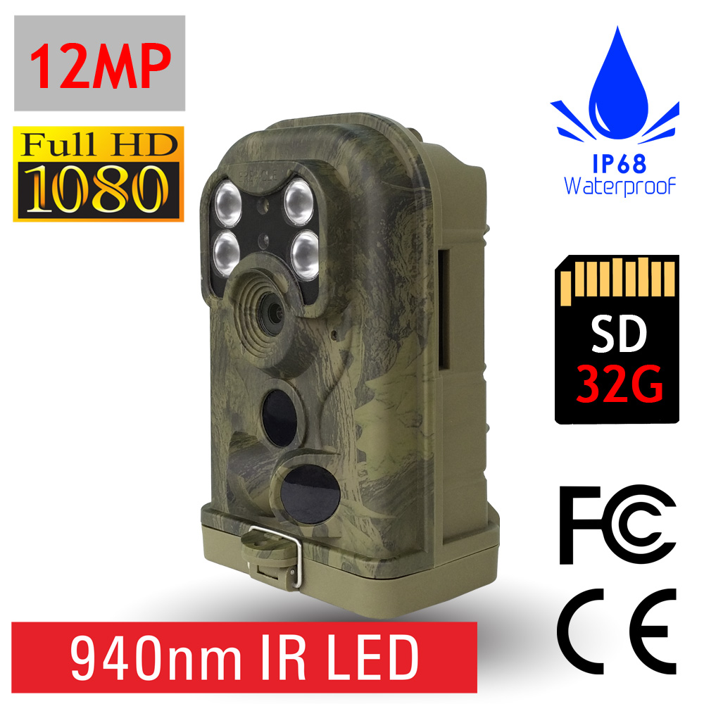 Full HD 940nm IR Wildlife Security Surveillance Trail Cam Hunting Alarm Camera with FCC CE RoHS