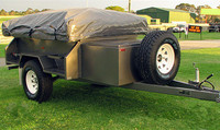 camp out camping trailer car roof tent
