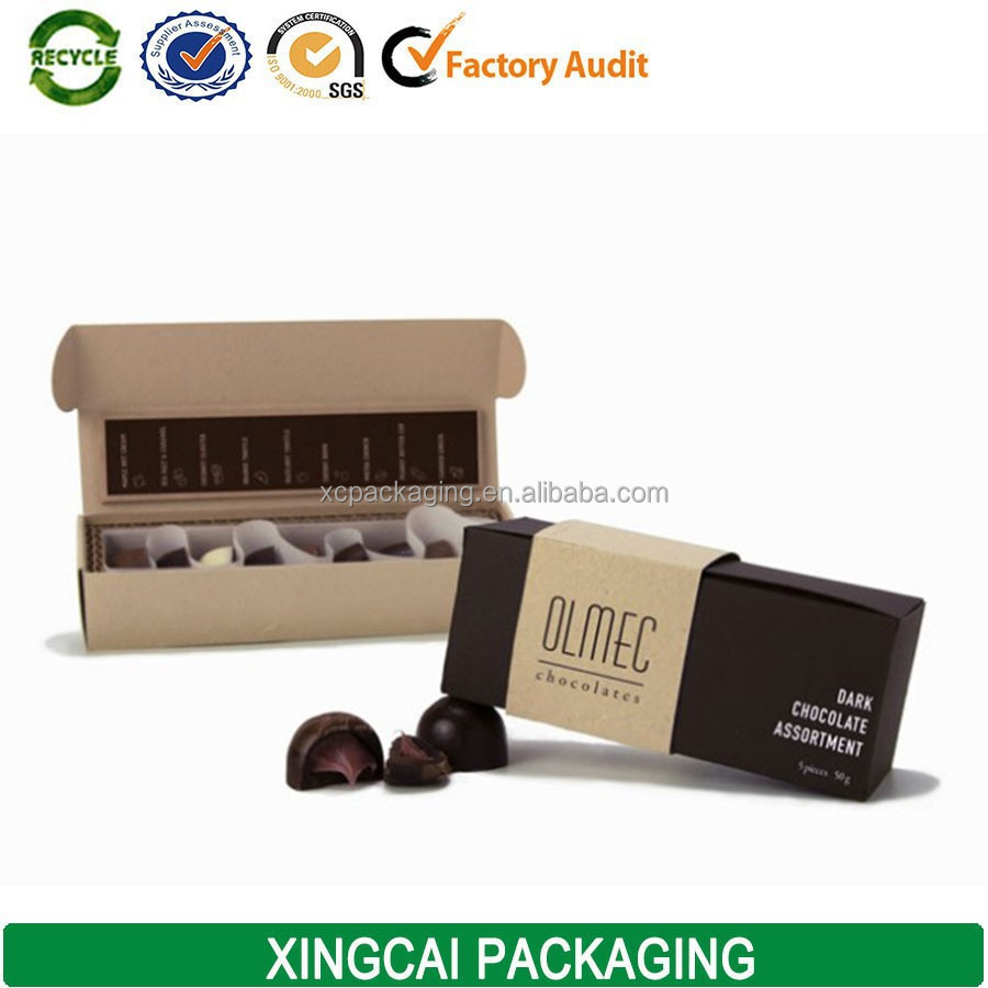 2017 small wholesale chocolate bars manufacture packaging boxes