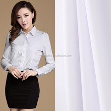 wholesale high density poly/cotton tc white poplin fabric for women's shirt
