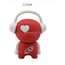 Fashion novelty customised 3d cartoon silicone rubber flash drive carry usb case, stylish pvc usb port cover