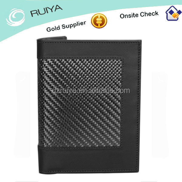 New Tendency Carbon fiber leather passport holder passport cover card holder
