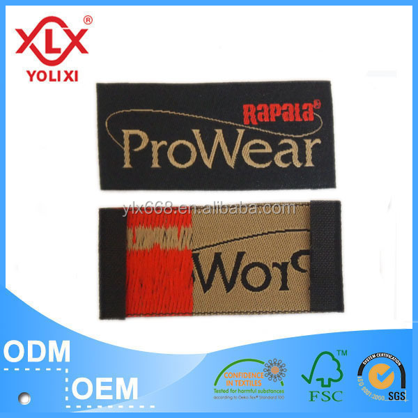 China manufacturers woven clothing label tag