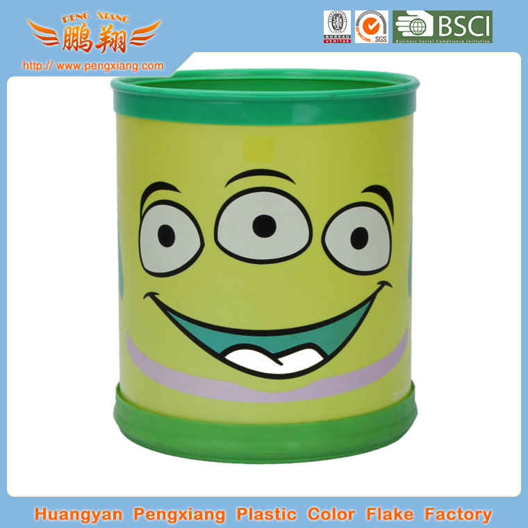 indoor household & hotel plastic dustbin cleaning dustbin plastic Transparen printing dustbin