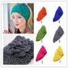 Women wool buttonTurban Knitted Headwrap Hair Band Winter ear Warmer Headband infant hairbands