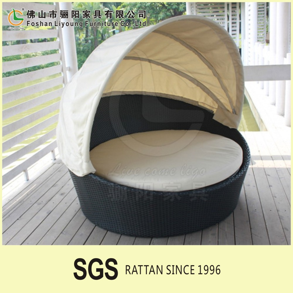 Turkey style comfortable rattan handmade stable waterproof tent ound hanging bed ,fashion design outdoor leisure modern sofa set