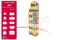 can food plastic pop display stand cabinet