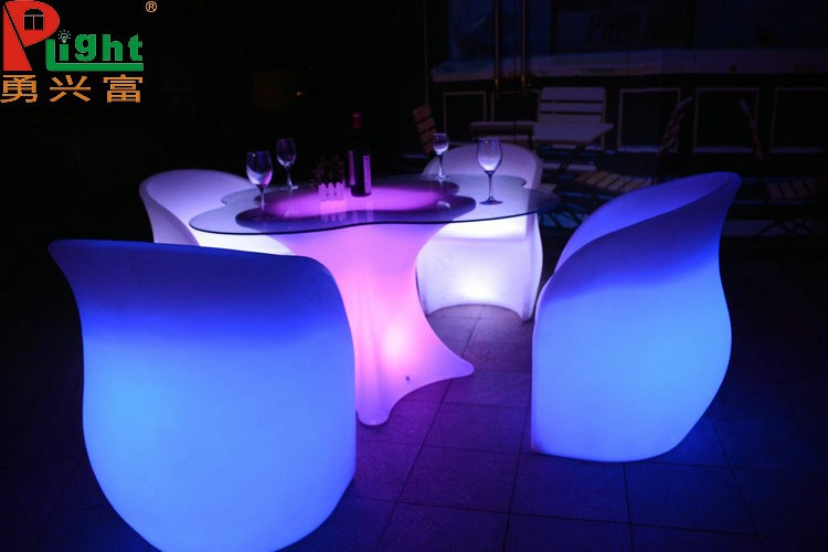 2017 bar furniture bar counters design LL DPE led bar table