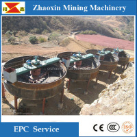 Center drive thickener, machine for thickening ore