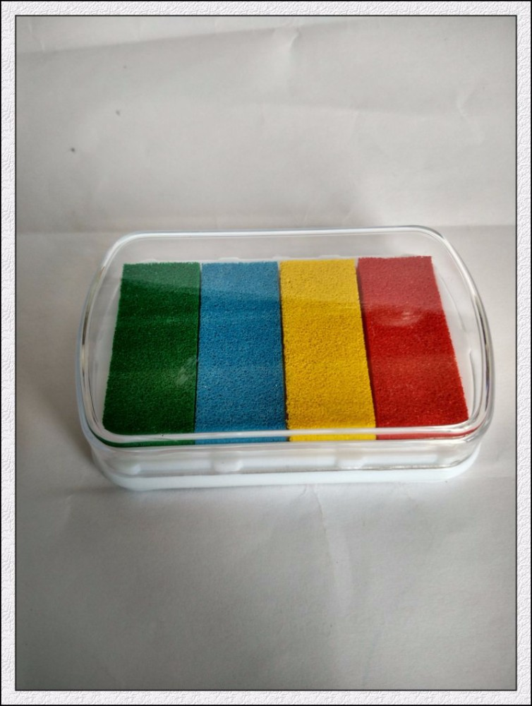 multi color mini ink pad for stamps