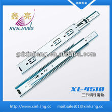 45mm 3-fold ball bearing drawer slides