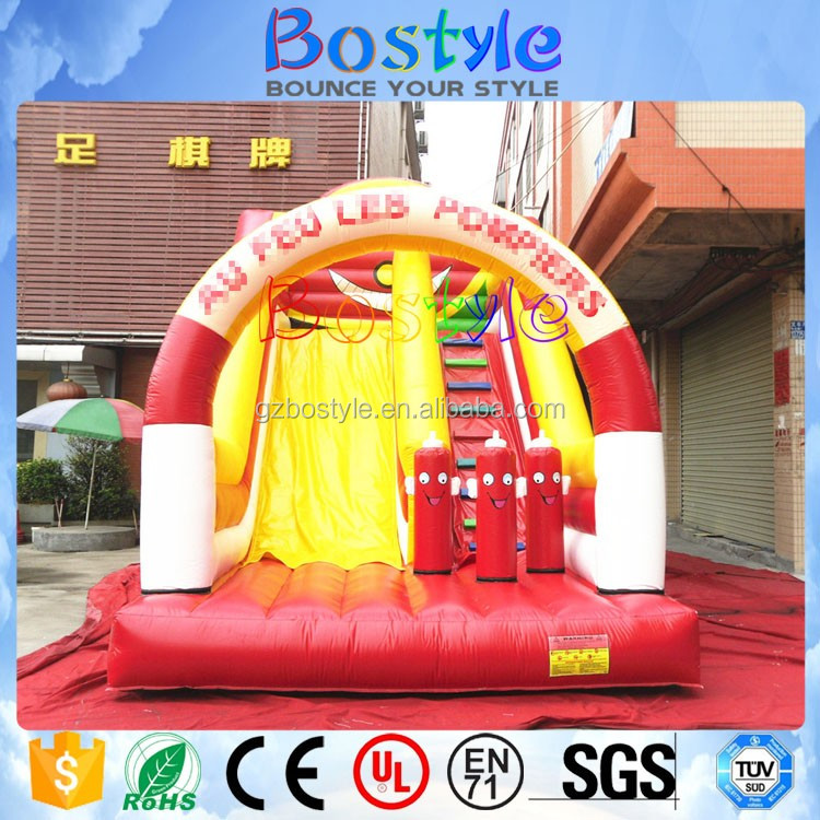 Quick delivery kids indoor slide inflatable giant bouncy water slides