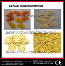 extruded potato starch snacks making machine/pellet food extruding /single screw extruder made in jinan