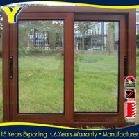 aluminum sliding double glazed tempered glass windows /Aluminium Sliding Window With Mosquito Net