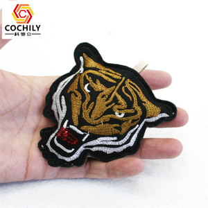 Cute animal shaped keyring embroidery embroidered custom animal keychain