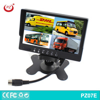 "Car Truck Van Trailer Rear Monitoring 7"" Quad Color TFT LCD Monitor Split Screen"