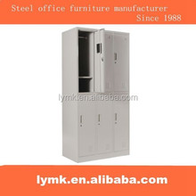 Low price factory direct sale gray metal 6 door locker cabinet
