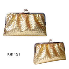 Whoelsale OEM factory korean PU bling cosmetic bag clutch bag