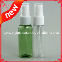 small plastic pump spray bottle 30ml 60ml 120ml PET bottle with spary cap