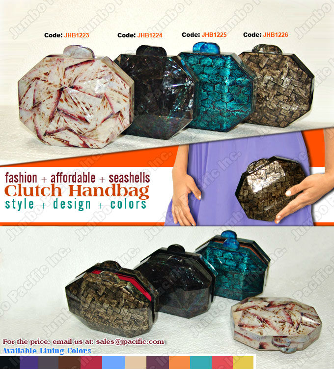 Shell Handbags Fashion Philippine made of inlayed seashells
